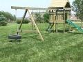 Строительство детской площадки на даче.